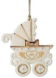 amazon com lenox 2013 baby u0027s 1st carriage ornament home u0026 kitchen