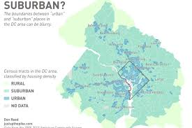 Dc World Map by Find Out Where The Suburbs Begin And End In Washington D C