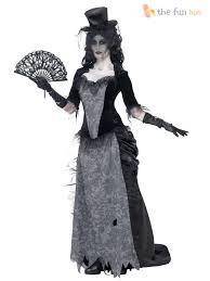 ladies zombie black widow bride costume victorian ladies halloween