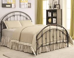 Iron Bed Set Coaster Iron Beds And Headboards 300407f Metal Curved Bed
