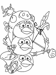 angry birds epic coloring page blue birds my free coloring