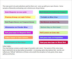 7 html color code chart templates free sample example format