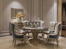 Ekarfurnitureroundmarbletable Dining Table Luxury - Luxury dining room furniture