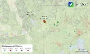 Us National Parks Map M U003d4 4 Earthquake Highlights In Progress Seismic Swarm In