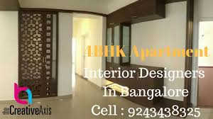 4bhk apartment interior design in bangalore by creative axis youtube