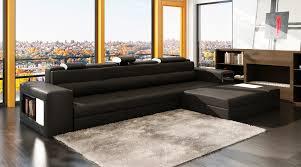 canapé m deco in canape d angle meridienne noir design en cuir venise