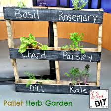 diy herb garden how to make an easy pallet garden