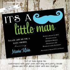 mustache baby shower invitation baby boy little man mustache bash