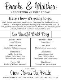 sided wedding programs custom printable sided wedding programs digital files