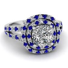 blue and white engagement rings engagement rings customized engagement rings new york nyc