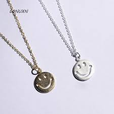 aliexpress buy smile necklace 925 silver ornaments