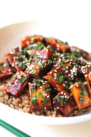 super easy hoisin tofu the whole serving
