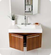 Modern Vanity Cabinets For Bathrooms 35 5 Fresca Vista Fvn8090tk Teak Modern Bathroom Vanity W
