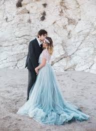 wedding dress blue blue wedding gown