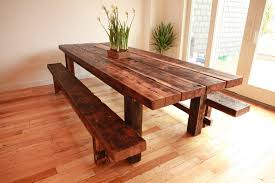 furniture sturdy dining table with bench dark brown wooden full