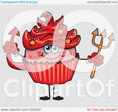 halloween background devil clipart of a devil halloween holiday cupcake holding a pitchfork