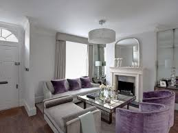 striped cushions pale grey sofa soft colour palette designer