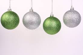 green and silver ornaments 2 stock photo image of glass seasons