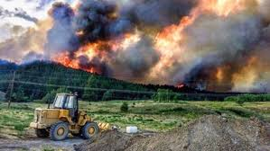 Canada Wildfires by With Wildfires Raging Across B C Province Declares State Of