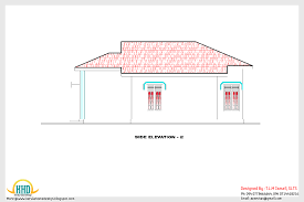 home plan and elevation 1200 sq ft home appliance side elevation 2d rear elevation 2d floor plan of 1200 sq ft house