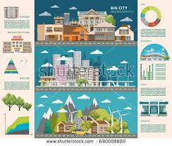 green city infographic set charts other stock vector 635850341