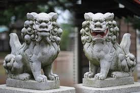 japanese guard dog statues pyro komainu the origin