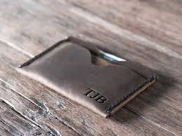 Leather Personalized Business Card Holder Top Grade Personalized Credit Card Holder Wallet Gifts For Men