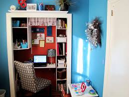 Corner Desk Shelves by In The Bedroom Turned Into Compact Home Office With Ample Storage