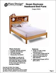 queen bookcase headboard bed woodworking project plans 3bcs1