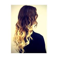 hair styles brown on botton and blond on top pictures of it additional lengths half head clip in dip dye