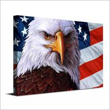 eagle home decor 1 pc canvas art canvas painting american flag eagle symbol hd