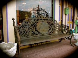 gorgeous cast iron bench super heavy fairies and birds decorate