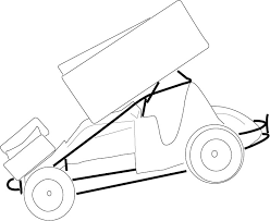 sprint car drawing template sketch coloring