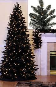 7 5 pre lit slim black spruce artificial tree