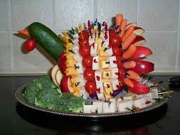 thanksgiving turkey vegetable platter ideas one hundred dollars