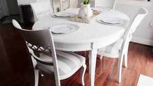 kitchen table spray painting furniture black refinishing