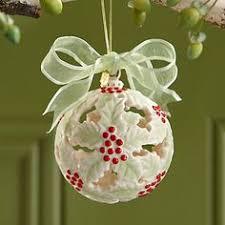 2013 poinsettia kissing ball ornament by lenox beautiful