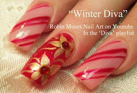 easy christmas nails diy diva candy stripe nail art with gold