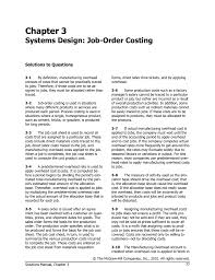 chapter 3 systems design job order costing solutions to questions