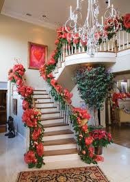 Stairs Decorations by 128 Best Christmas Staircase Decorations Images On Pinterest