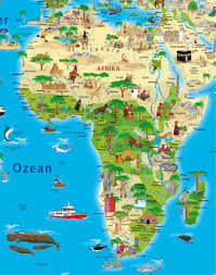 World Map Africa by Illustrated Children World Map Maps For Kids Geo Kids World