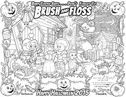 Halloween Drawing Activities Halloween Oral Health Kids Coloring U0026 Activity Page Adventures