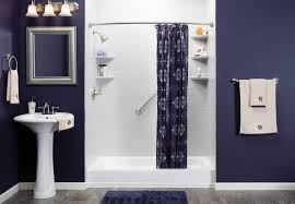 trendy home interior bathroom remodel picture with dark grey wall