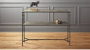 Metal Console Table Molten Metal Console Table In Console Tables Reviews Cb2