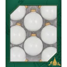 2 5 8 in porcelain white glass ornament