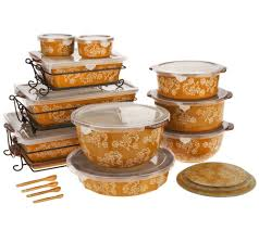 oven to table bakeware sets temp tations floral lace 24 piece oven to table set page 1 qvc com