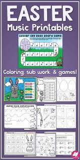 easter games easter music worksheets general music classroom music