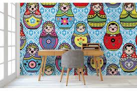 tapisserie chambre enfant tapisserie chambre enfant poupées russes izoa