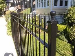 allure aluminum worthington 4 ft x 6 ft black aluminum 3 rail black metal fence black metal fence isolated on white background