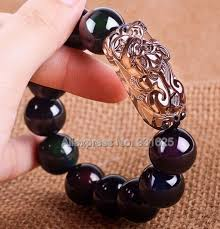 fashion elastic bracelet images Beautiful natural obsidian 8mm 20mm beads ice clear obsidian jpg